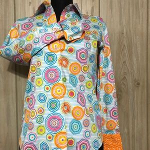 Tizzie Multi Color Flip Cuff Long Sleeve Shirt